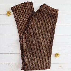 Zara Girls Shimmer Stretch Pants 11 / 12 NWOT
